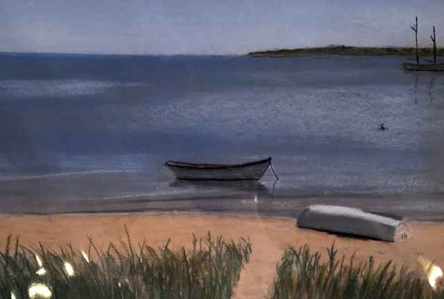Boat on the Beach (ma... by  Warren V. Gaines - Masterpiece Online