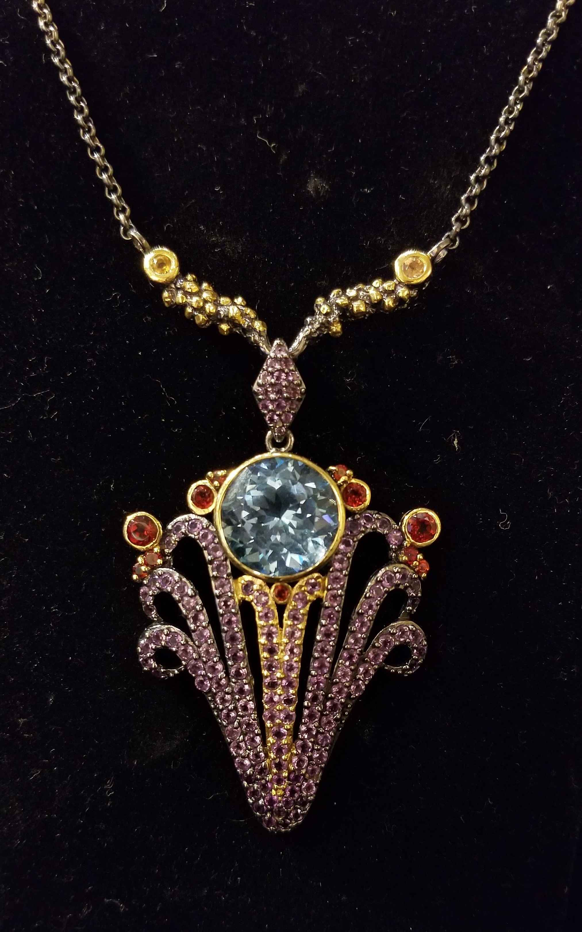 Necklace - SS Rhodium... by  Gallery Pieces - Masterpiece Online