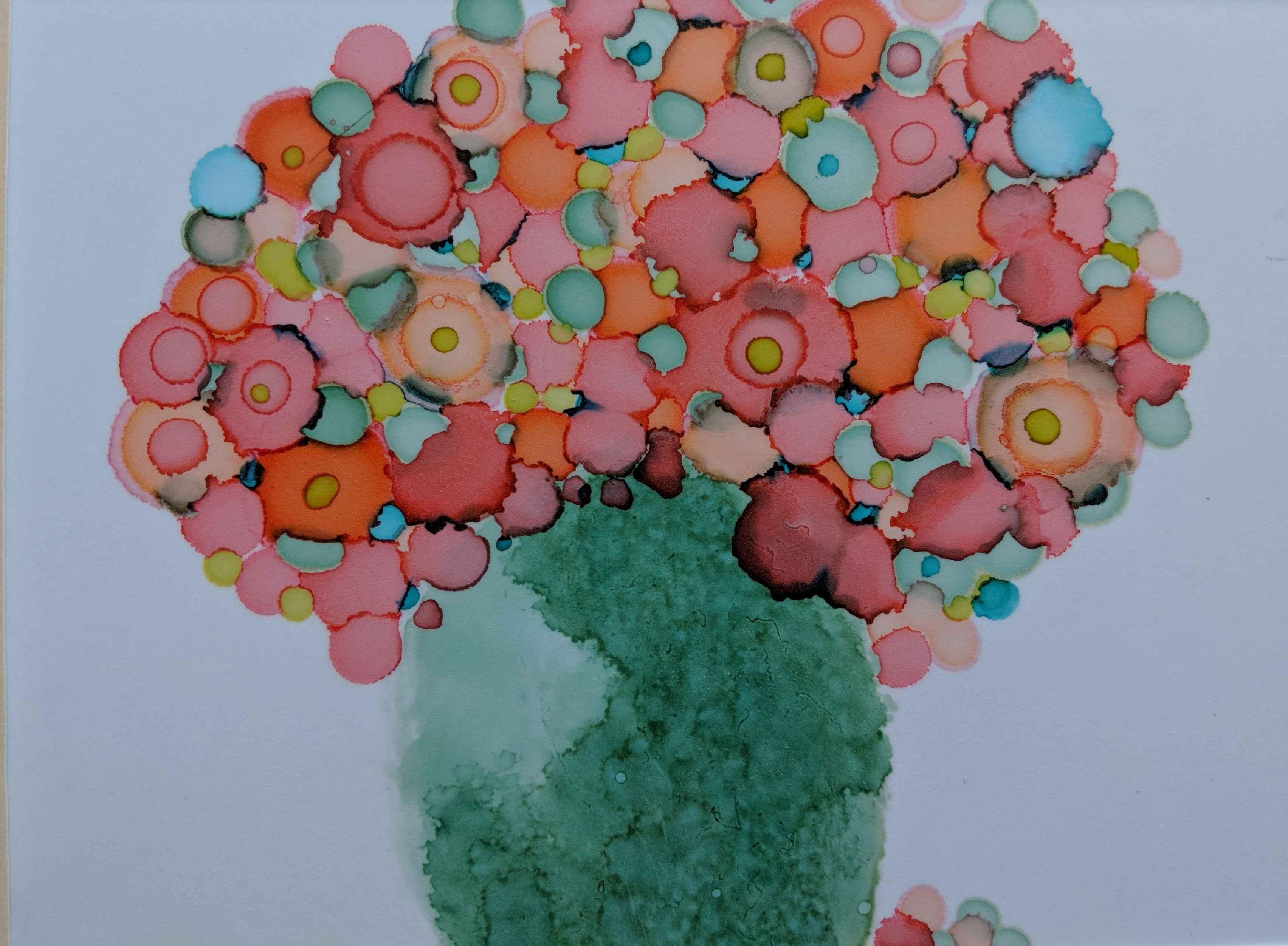 Garden Jar by  Shirley Johnson - Masterpiece Online