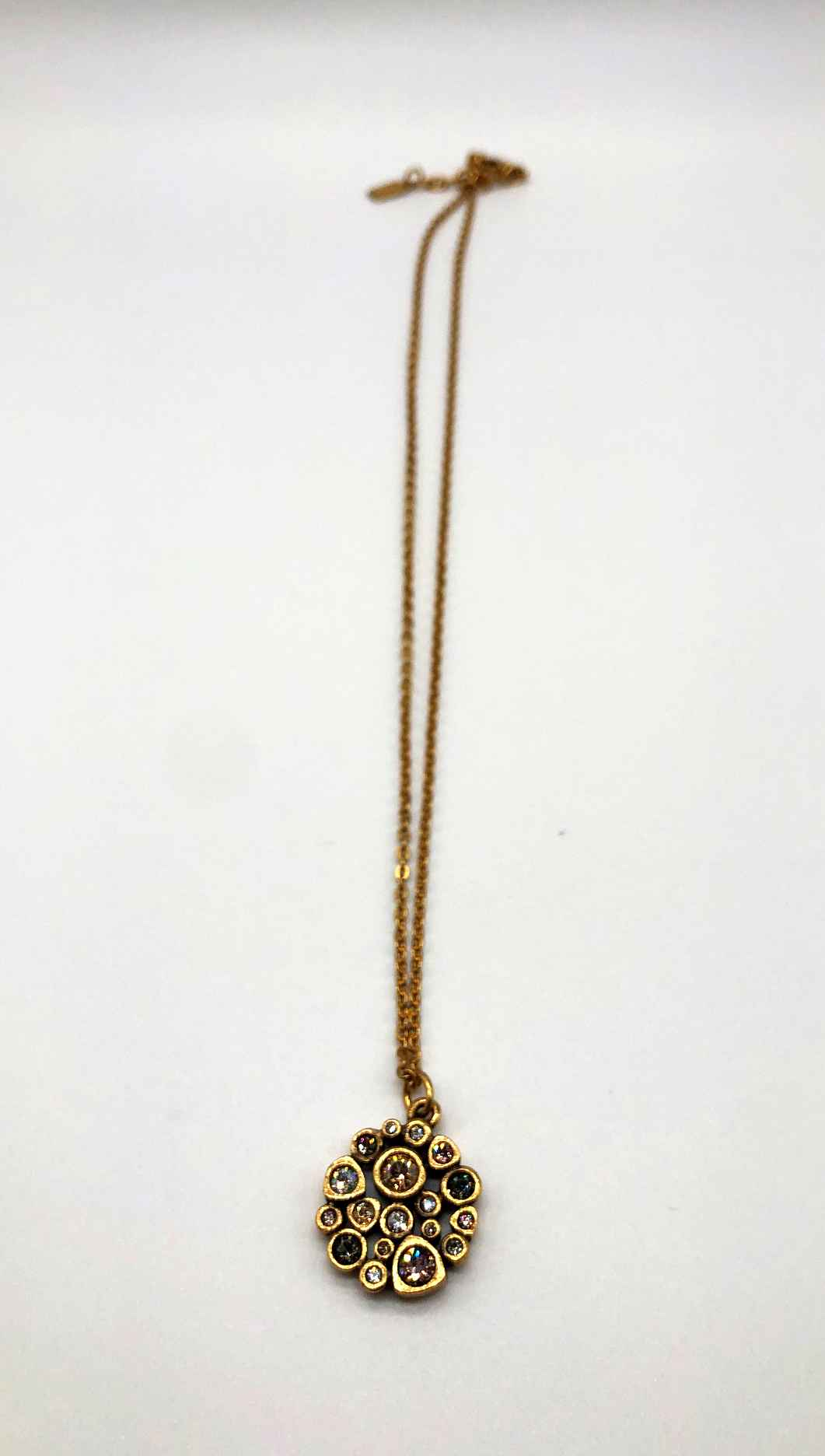 Popcorn Necklace in Gold, Champagne