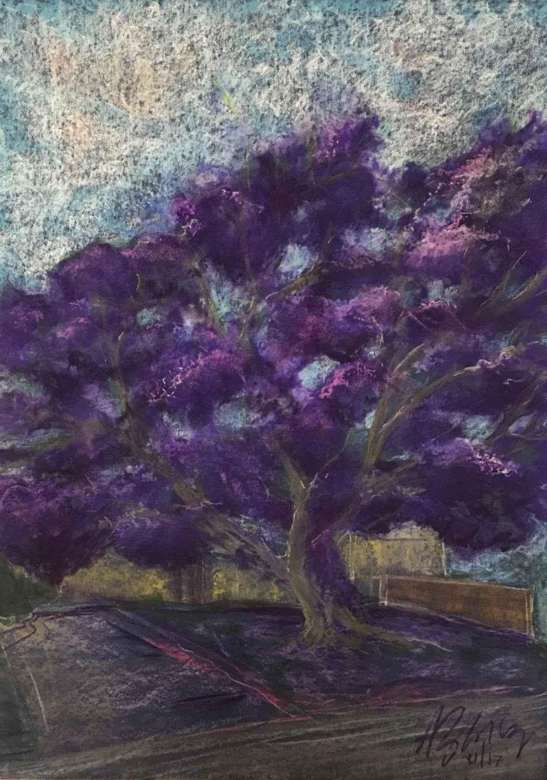 Jacaranda Tree represented  by  Agi Zwierz