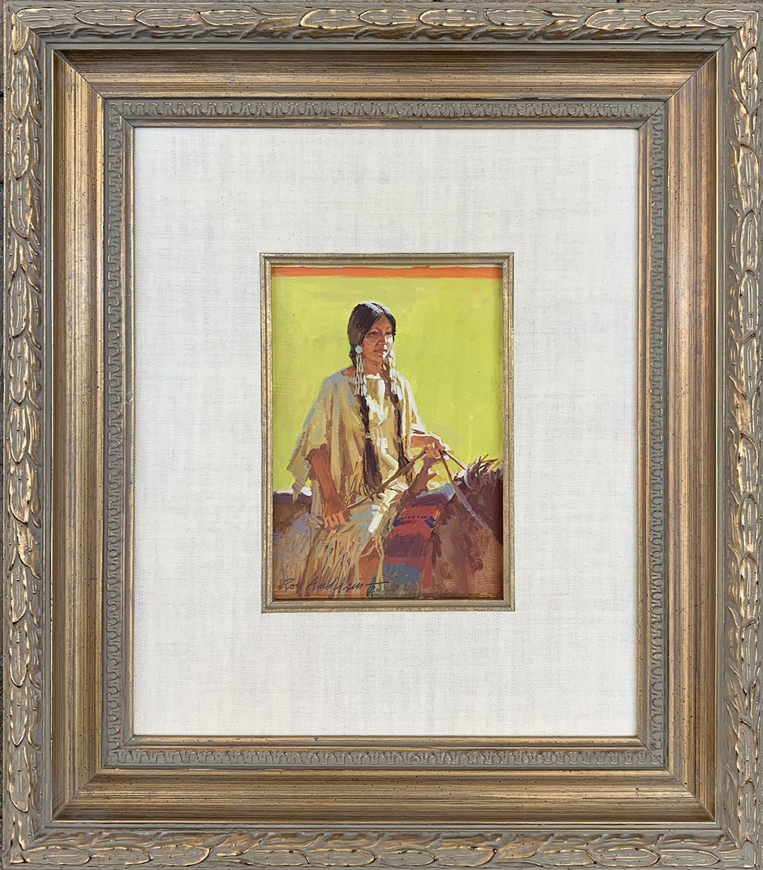 Indian Maiden on Hors... by Mr. Roy Andersen - Masterpiece Online