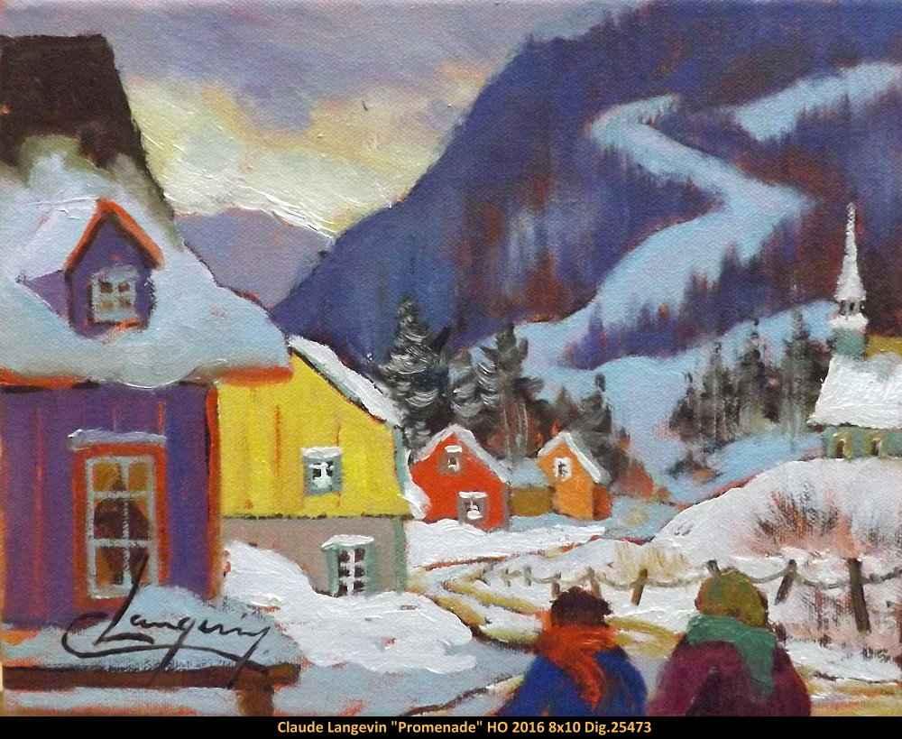 Promenade 1025473 by  Claude Langevin - Masterpiece Online