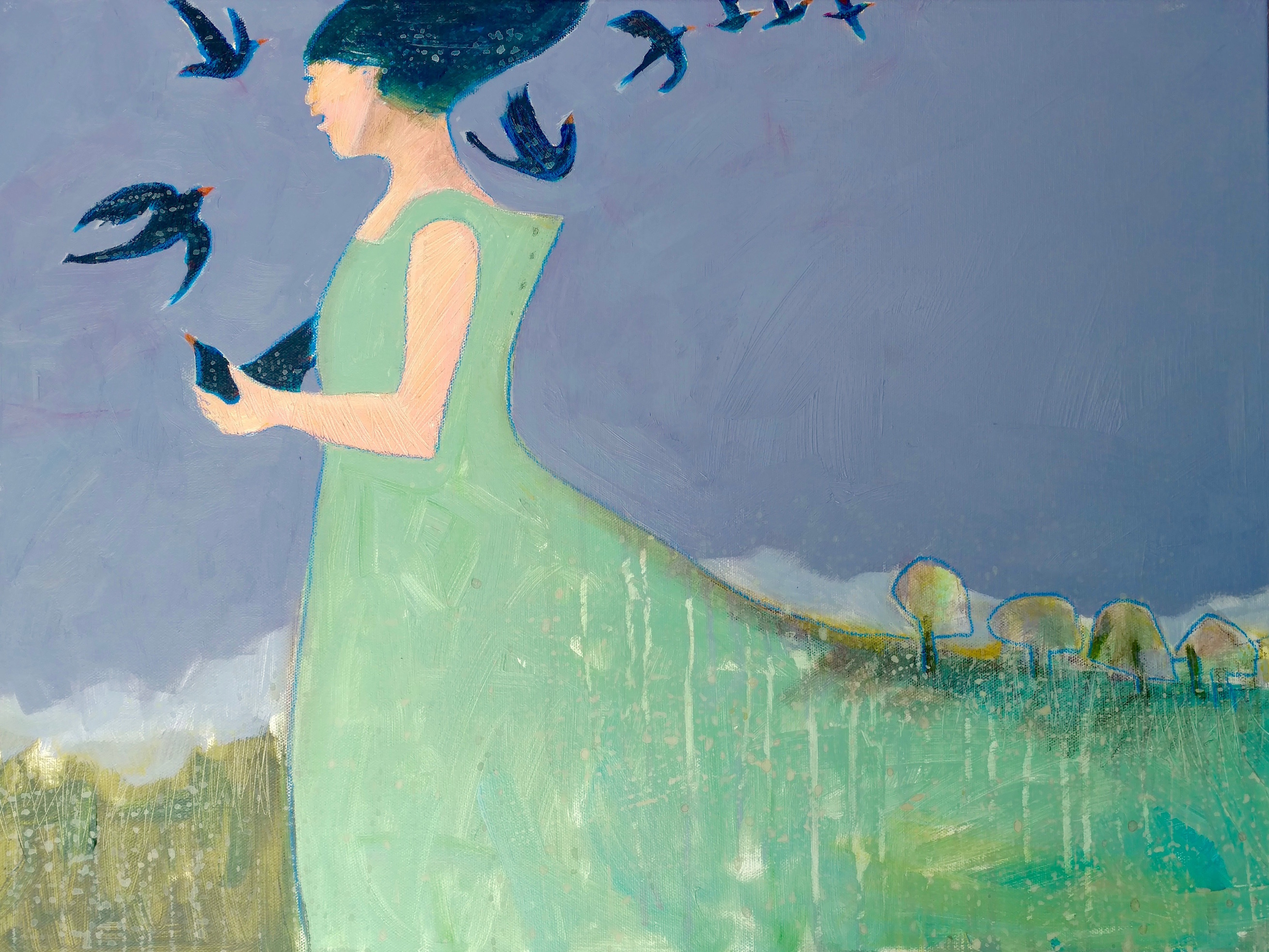 Black Birds Fly by  Peggy McGivern - Masterpiece Online