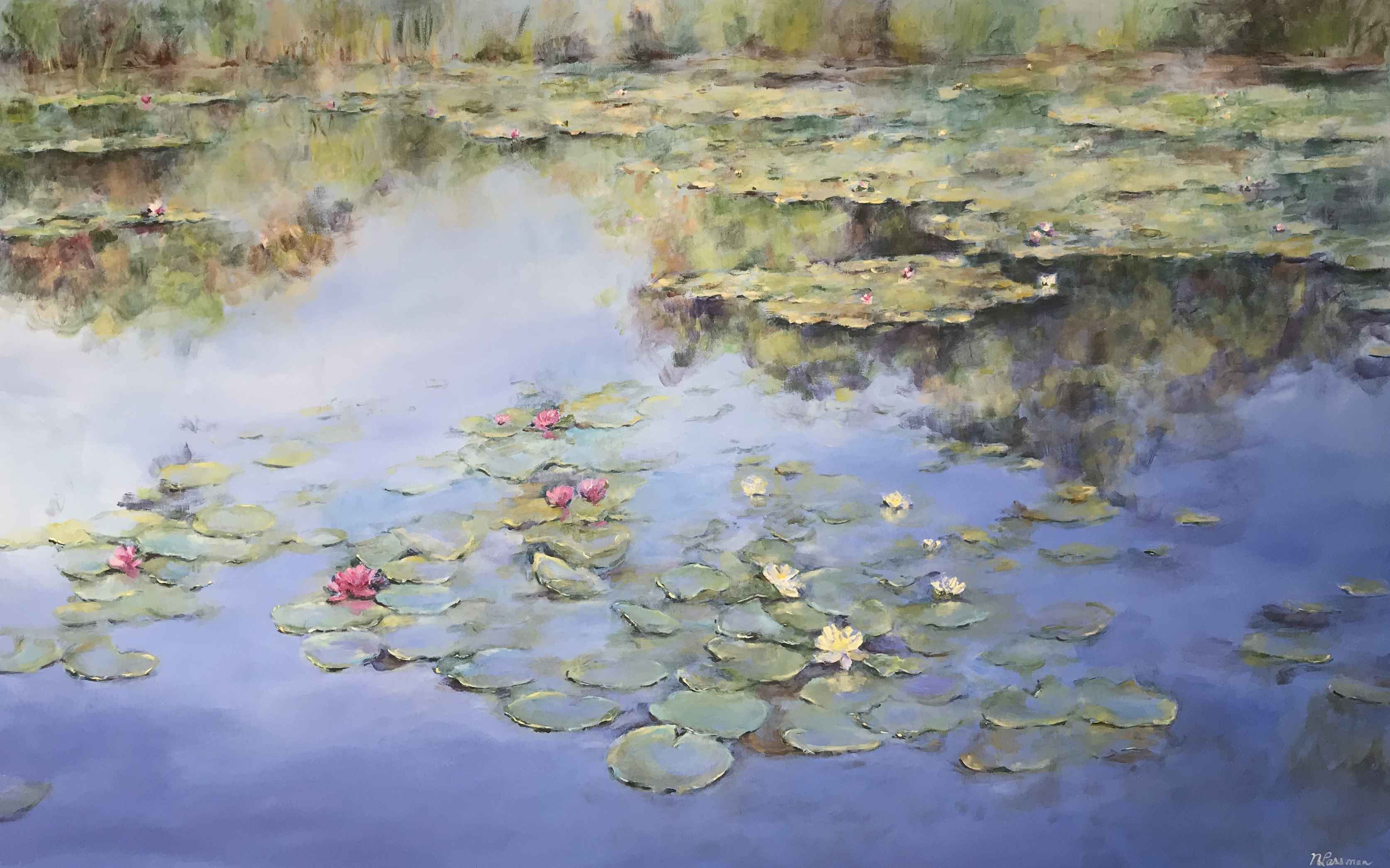 Lovely Lilypond by  Nadia Lassman - Masterpiece Online