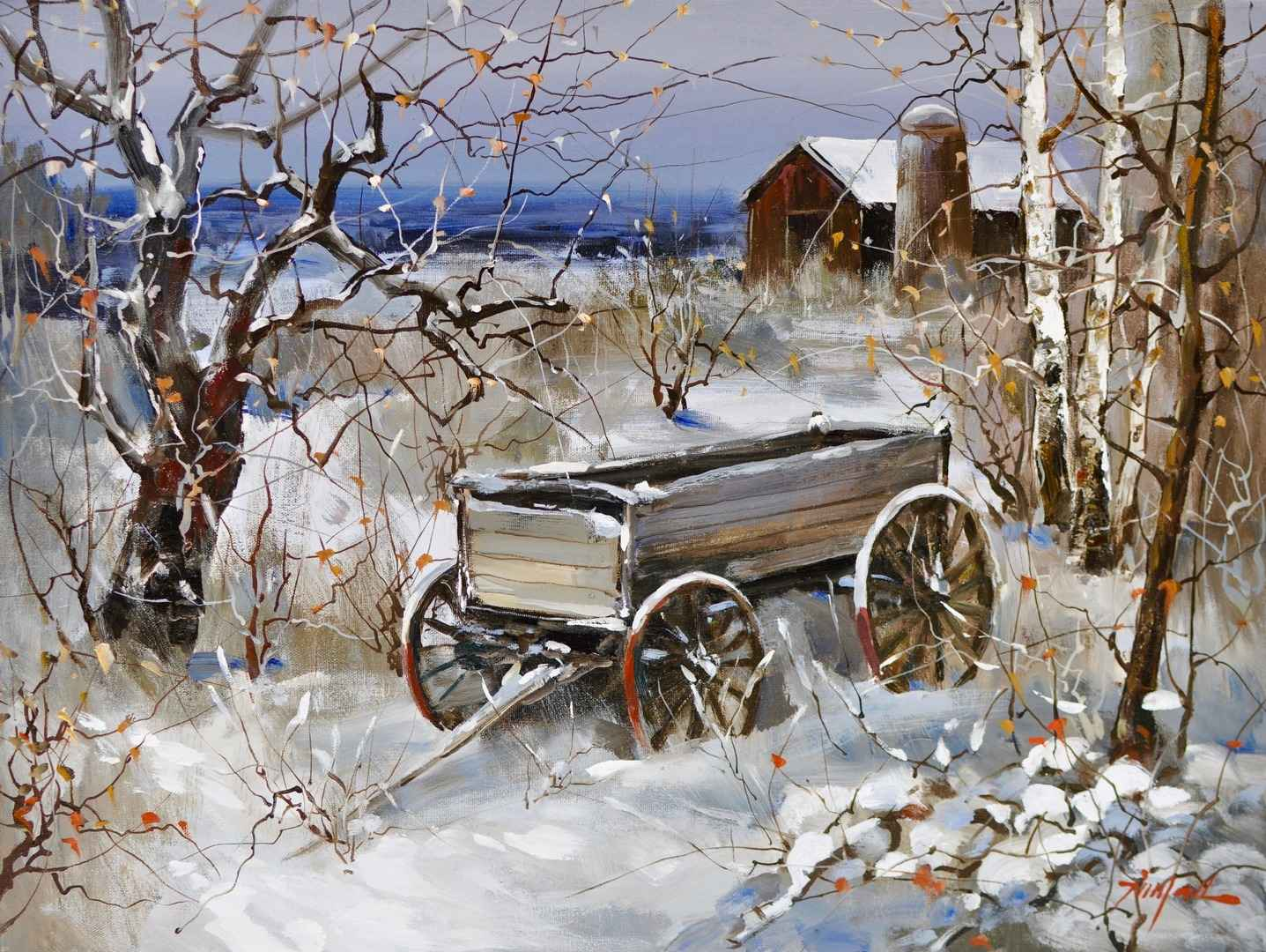 Winter Wagon by  Tinyan Chan - Masterpiece Online