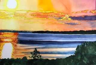 Lambert's Cove Sunset... by  Deborah Hiatt - Masterpiece Online