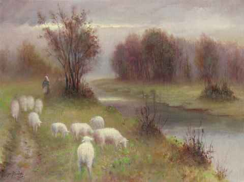 Minding the Sheep by  Roger  Budney - Masterpiece Online
