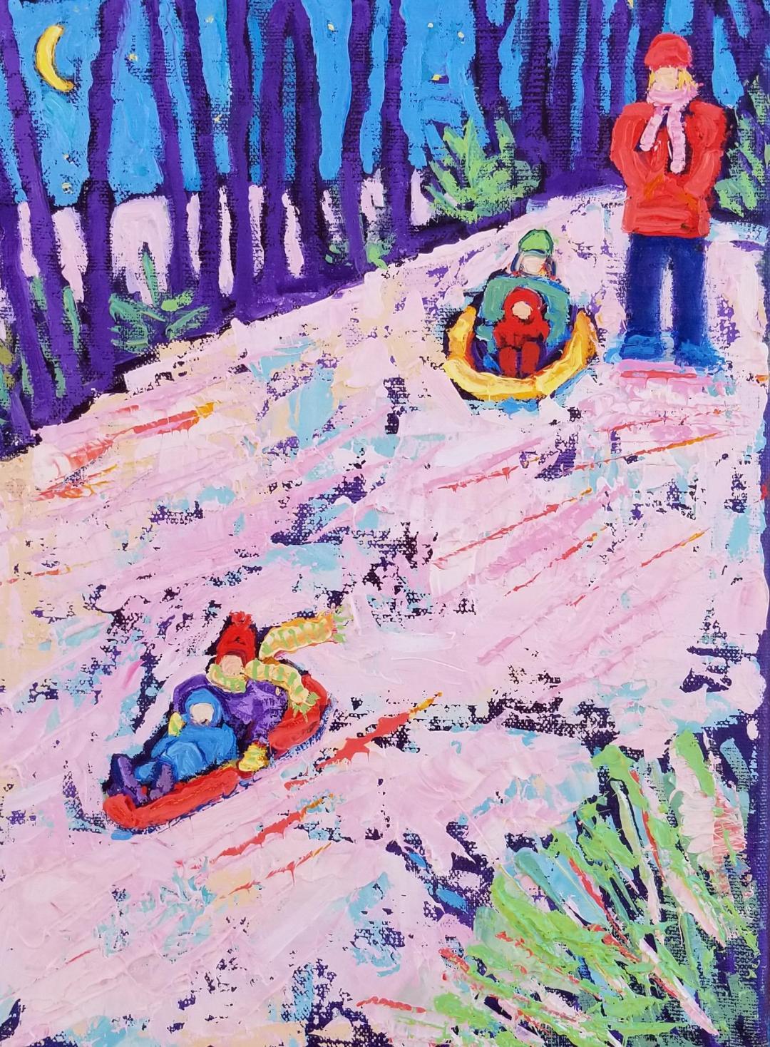 Snow Sledding!
