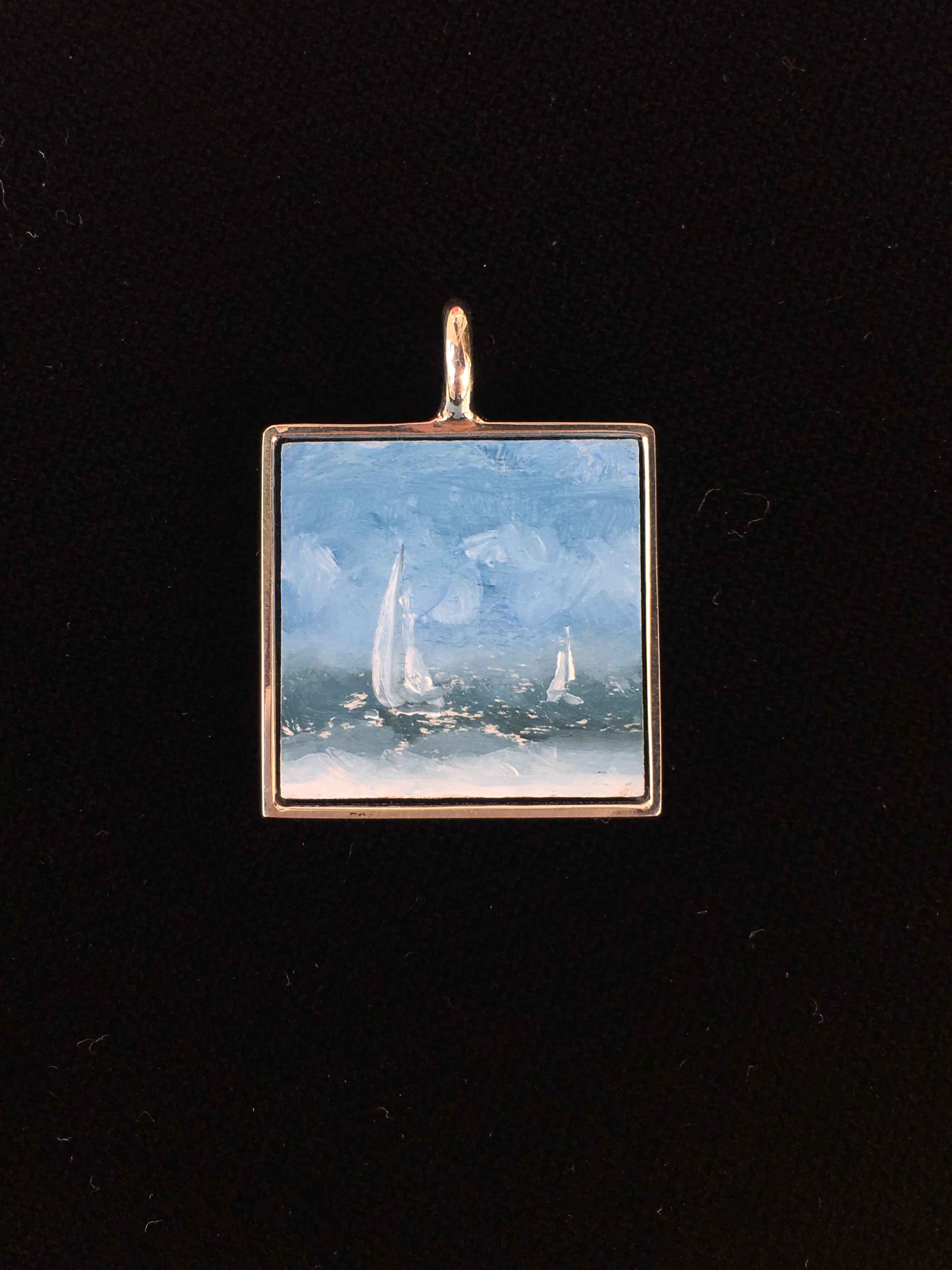 #225 Small Square- Wh... by  Nell Mercier - Masterpiece Online