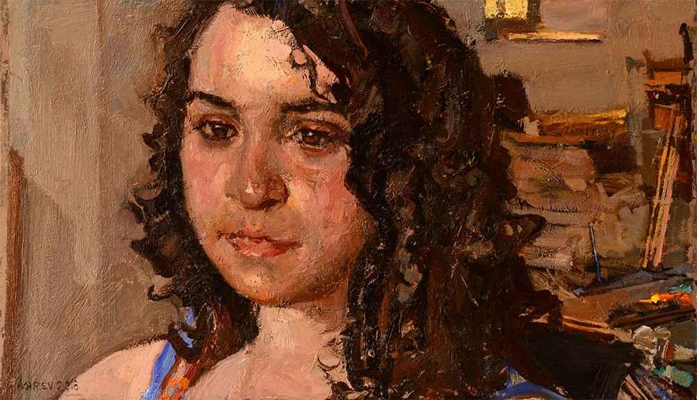 Portrait of Leah by  Daud Akhriev - Masterpiece Online