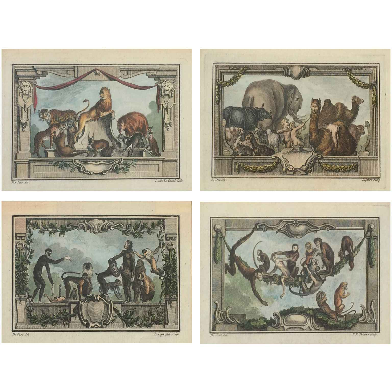 Set of Four 18th Cent... by  French  - Masterpiece Online