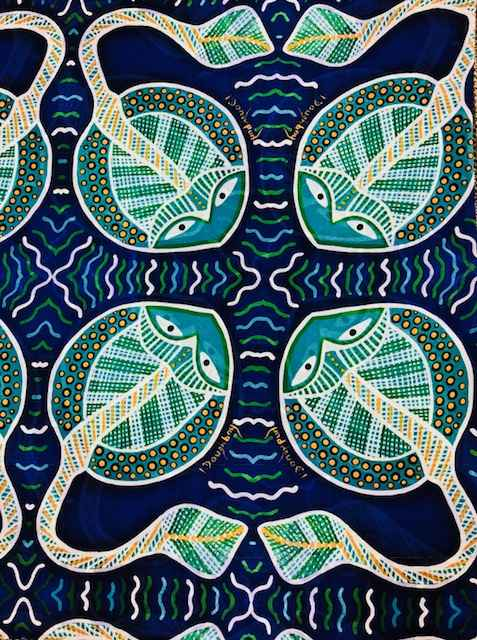 Blue stingray Sarong by Ms Irene Bowyer - Masterpiece Online