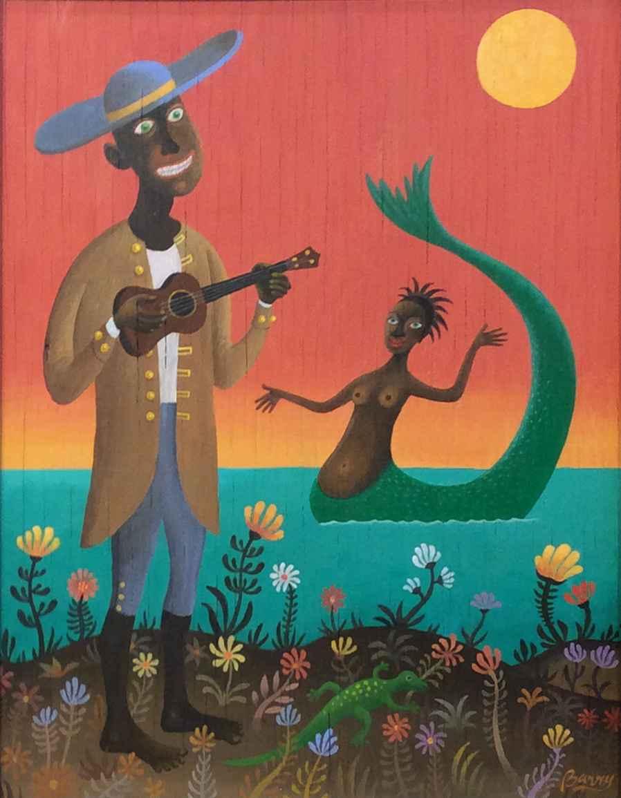 Ukulele Lady by  Barry Rockwell - Masterpiece Online