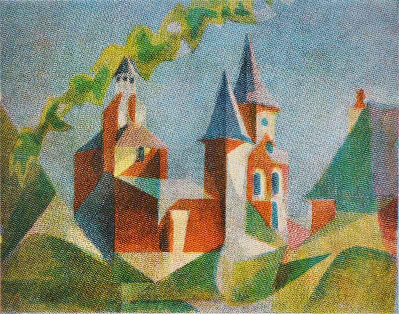 Castle (multicolor) by  Bernard Brussel-Smith (1914-1989) - Masterpiece Online