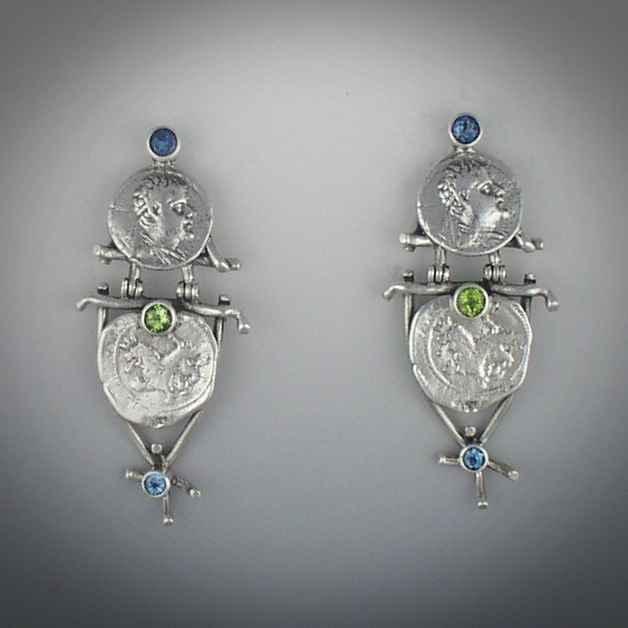 Silver Coin Earrings by  Mummy's Bundle - Masterpiece Online