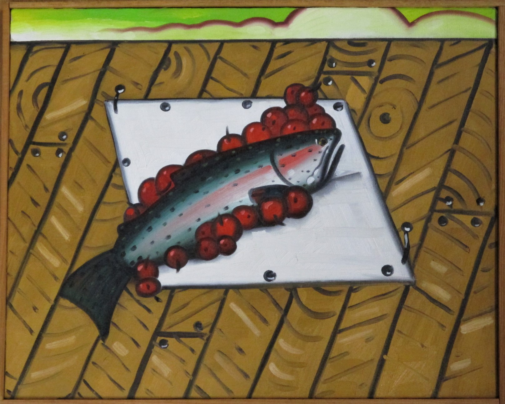 Trout with cherries by  Richard Thompson - Masterpiece Online
