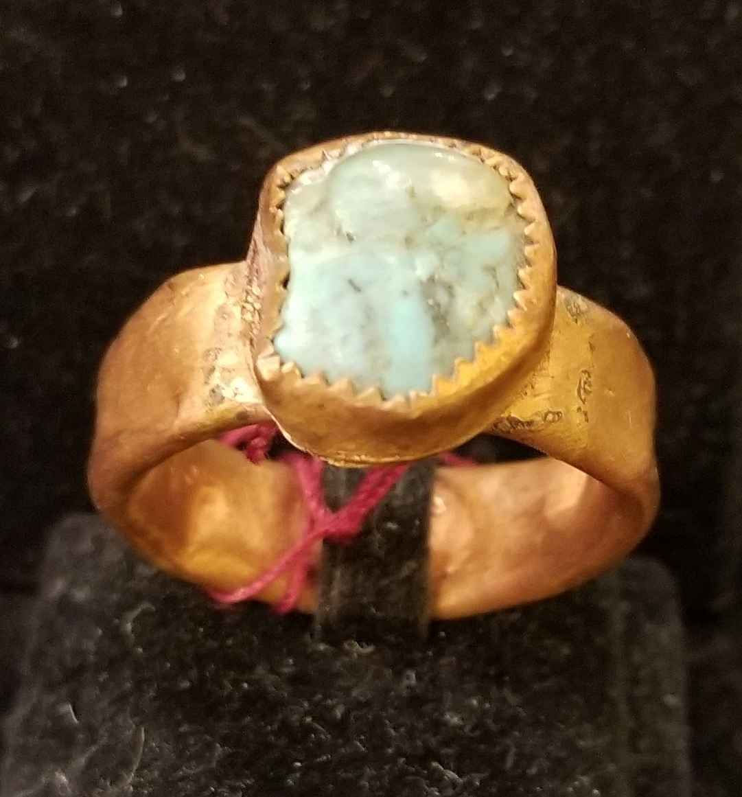 Ring - Copper w/Turqu... by  Aziah Poimandres - Masterpiece Online