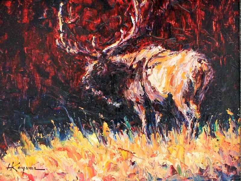 Elk of Yellowstone  by  Harry Koyama