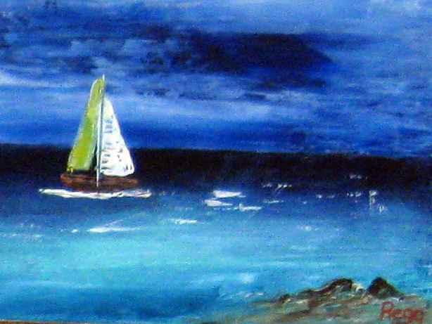 Cruising Sail Boat by Mr Reginald Gill - Masterpiece Online