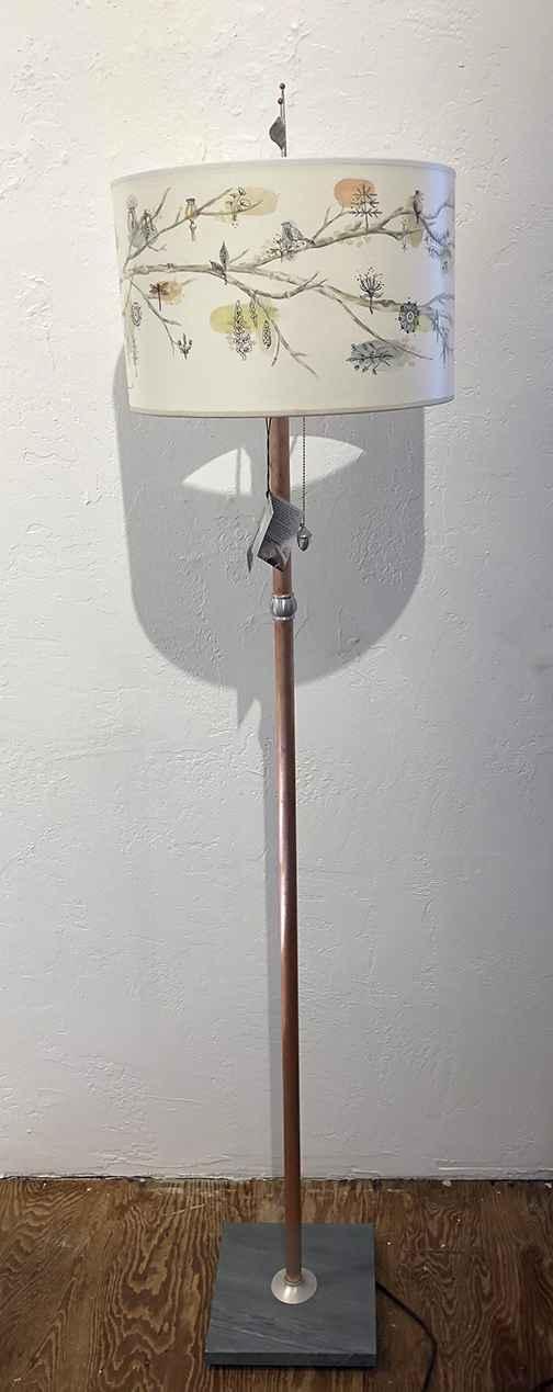Artful Branch Floor Lamp, Giclee Shade