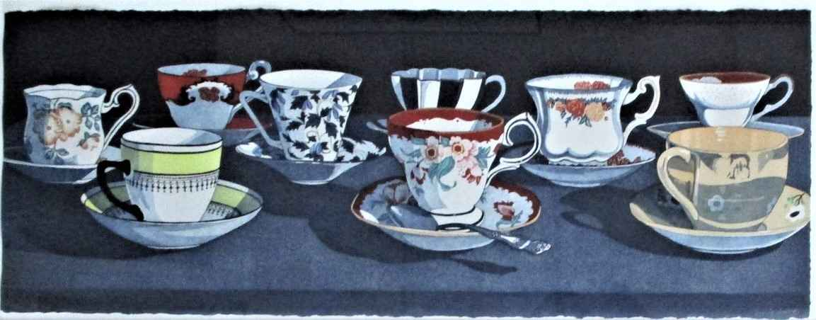Unknown ( 9 Tea cups ) by  Sherrie Wolf - Masterpiece Online