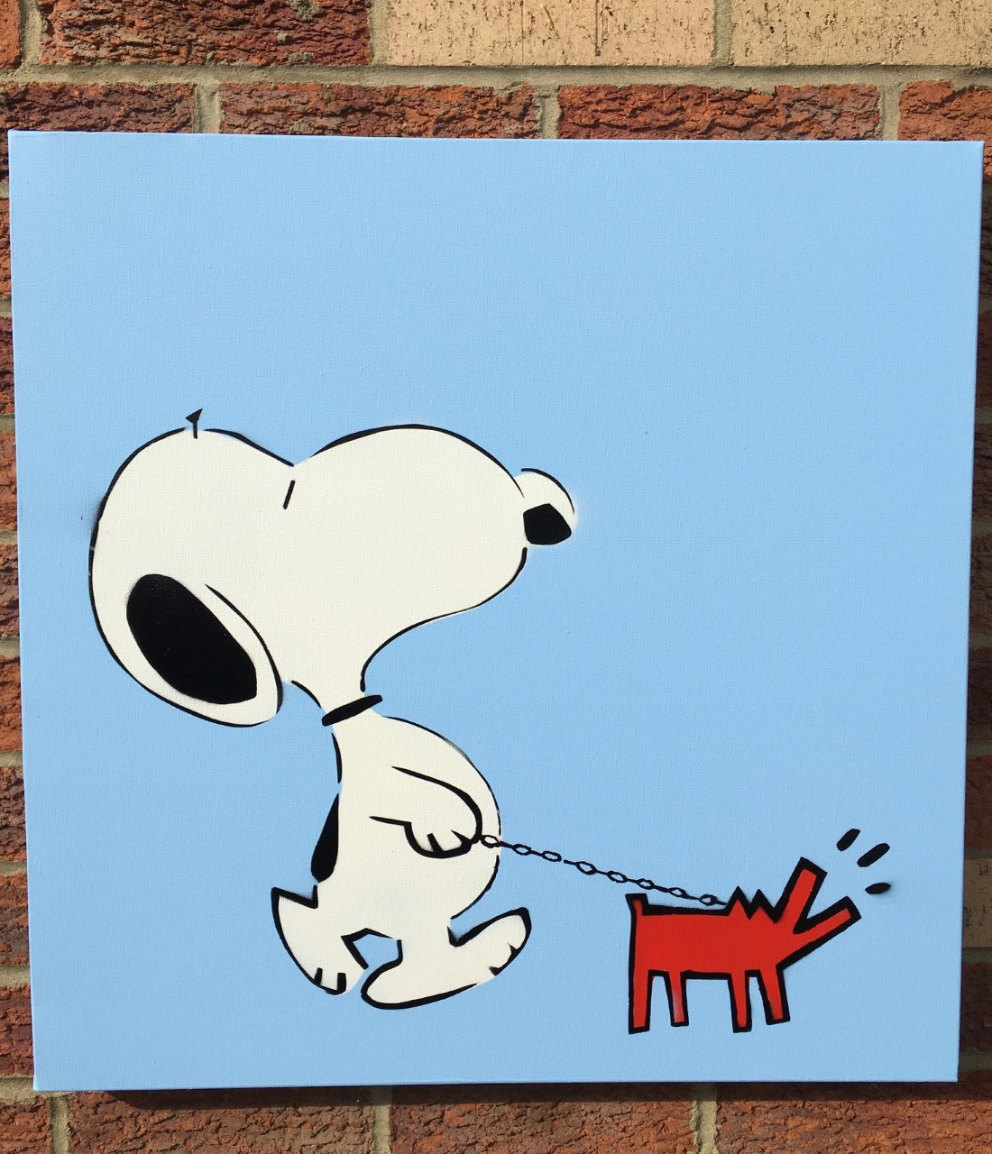 Snoopy and Haring Dog... by  Karl Striker - Masterpiece Online