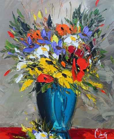 Yellow, Purple & Oran... by  Louis  Magre - Masterpiece Online