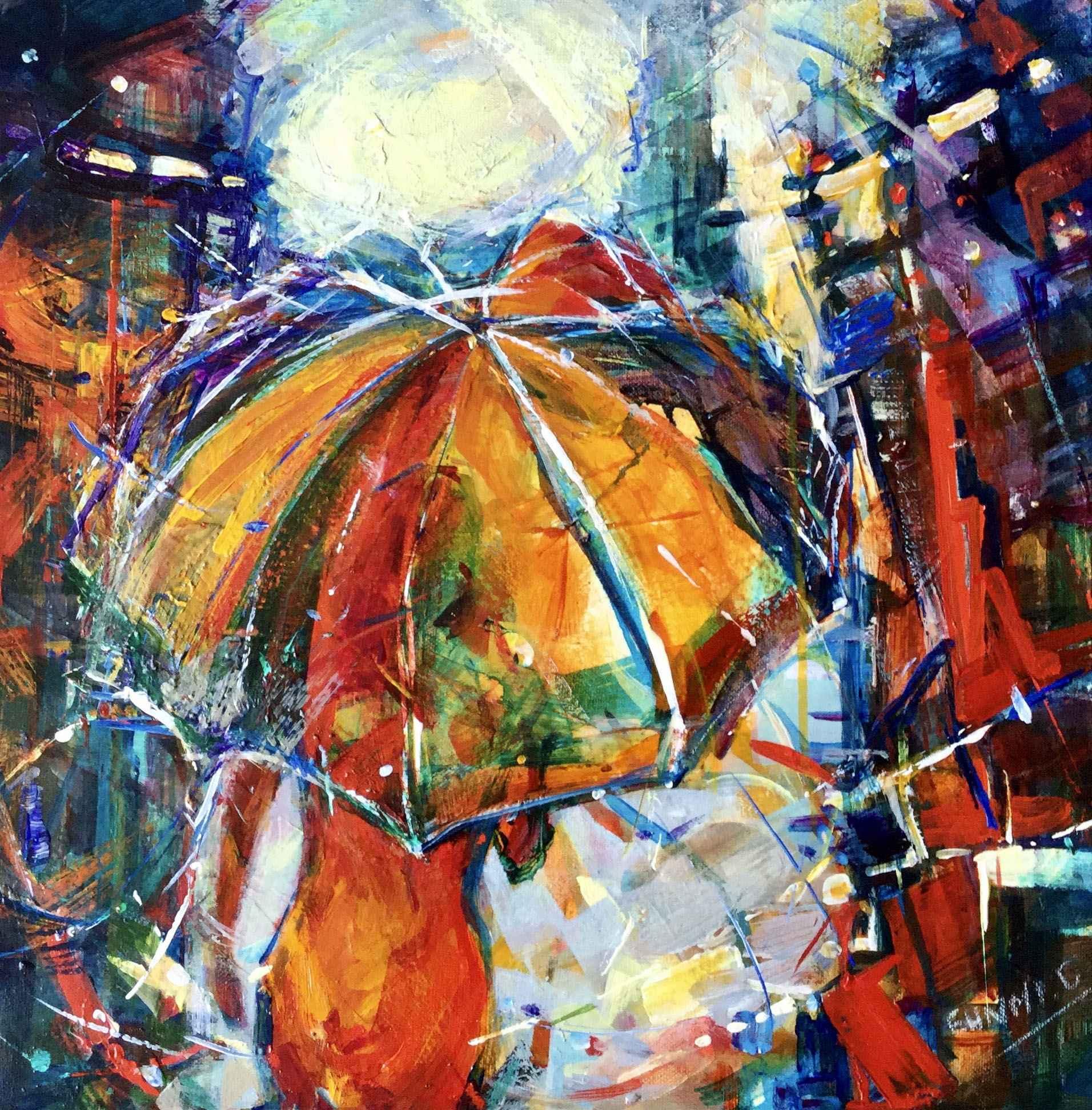 Yellow Umbrella by  Eunmi Conacher - Masterpiece Online