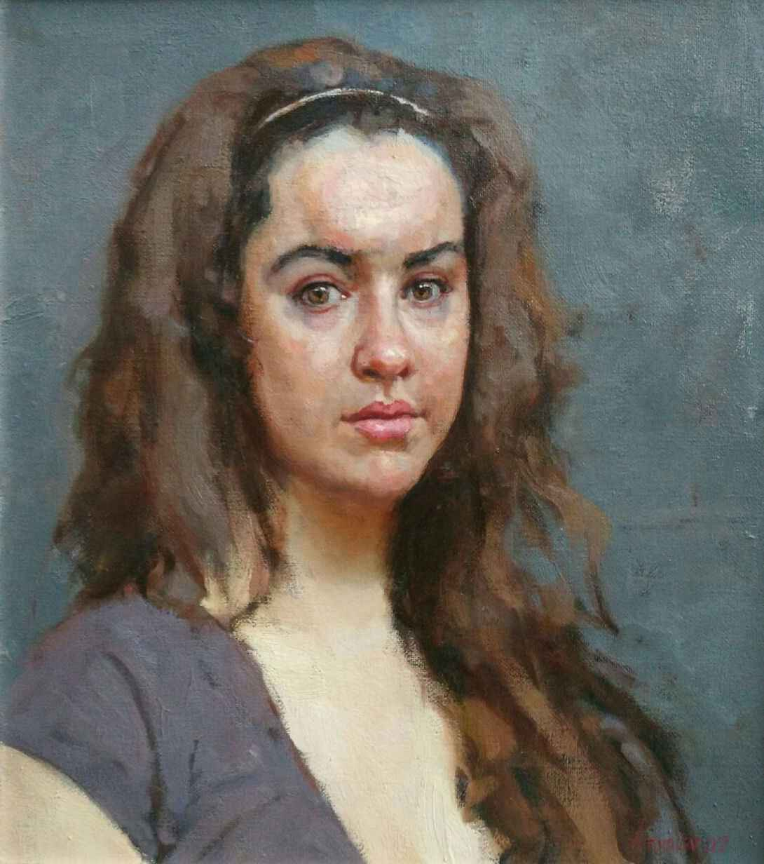 Portrait of Joanna by  Daud Akhriev - Masterpiece Online