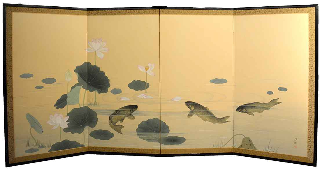 Lotus & Carps by  Oh-en Tanaka - Masterpiece Online