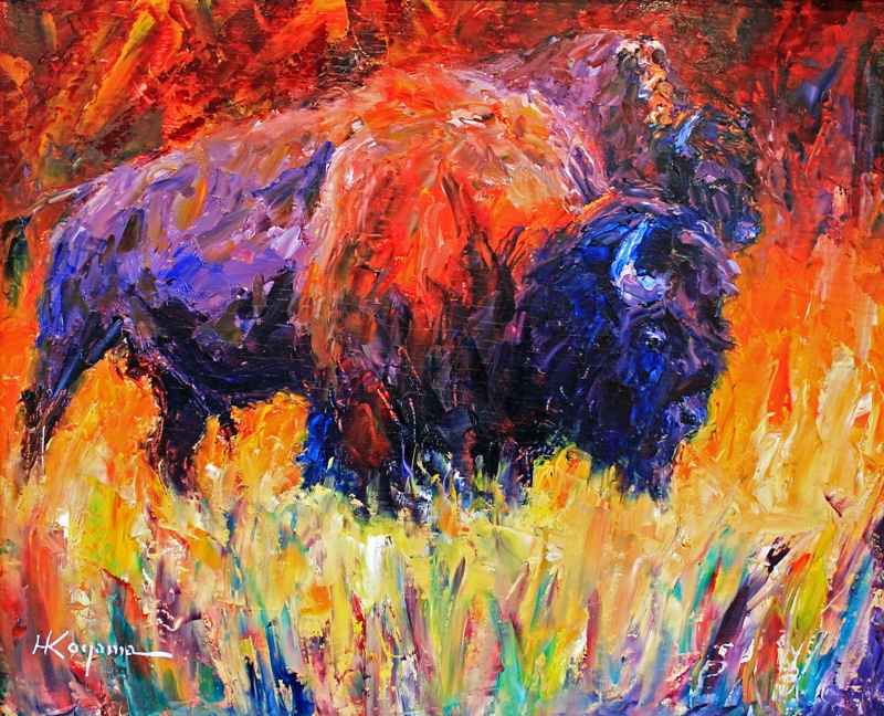 Red Bison  by  Harry Koyama