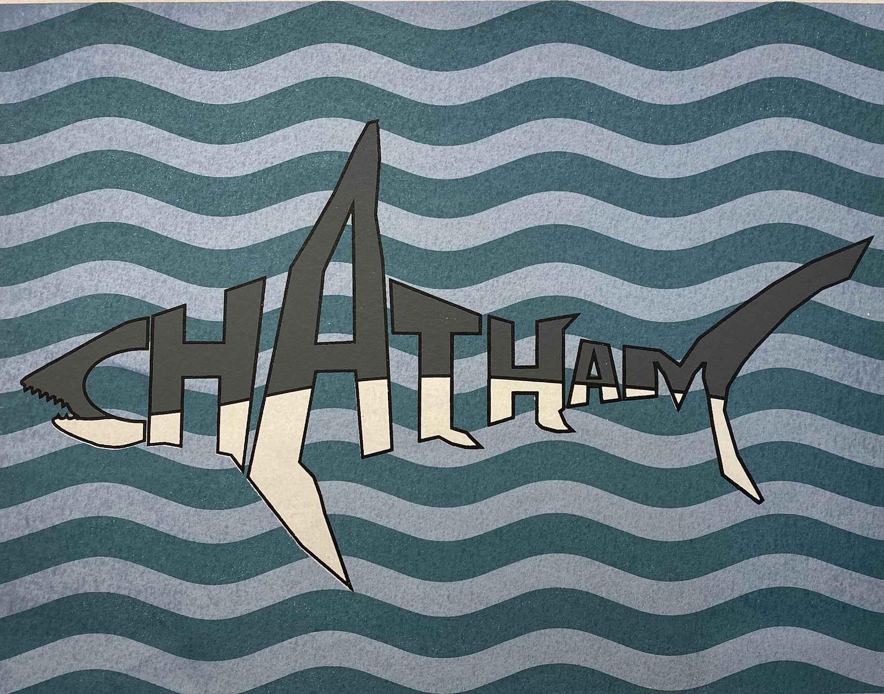 Chatham Shark Silkscr... by  Nick Heaney - Masterpiece Online