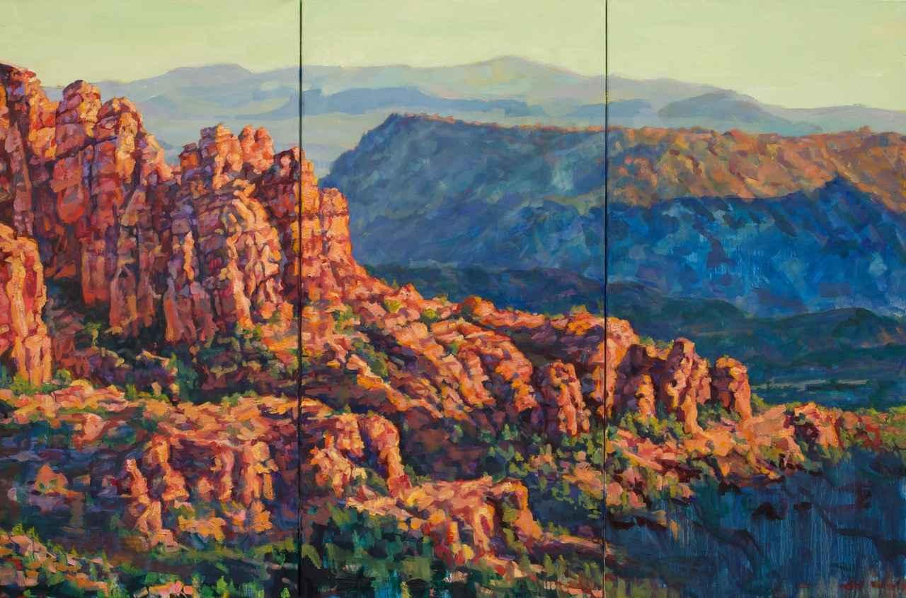 Red Rocks Triptych by  Patricia A. Griffin - Masterpiece Online