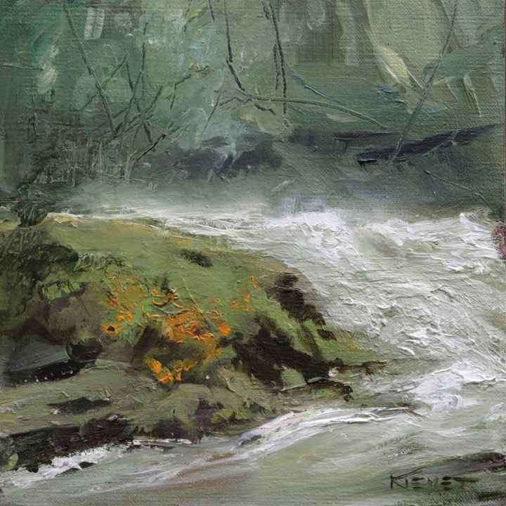 Rushing Downstream by  Fran Kievet - Masterpiece Online