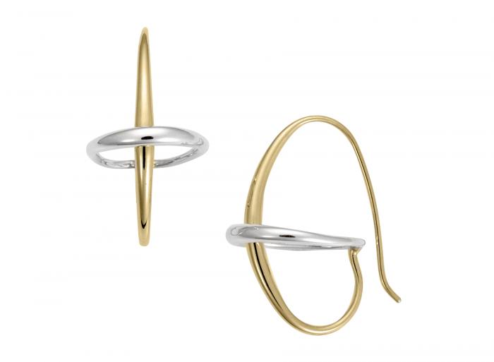 Orbit Earrings 14k Gold and Sterling Silver, medium