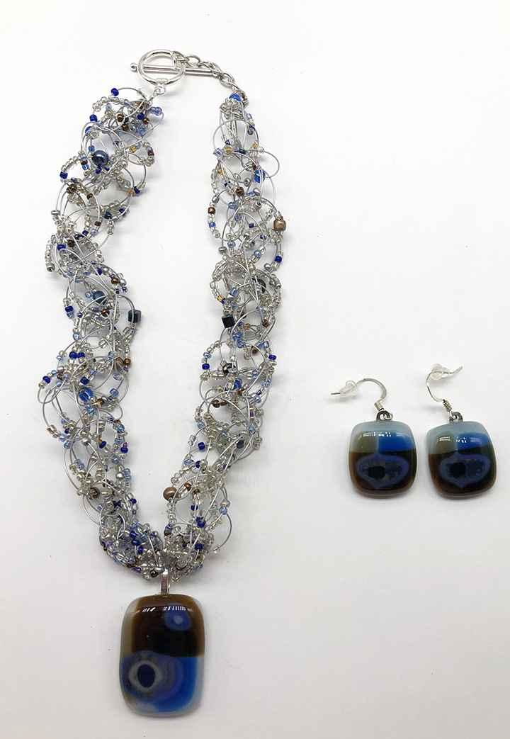 Land & Sky Fused Glass Earrings