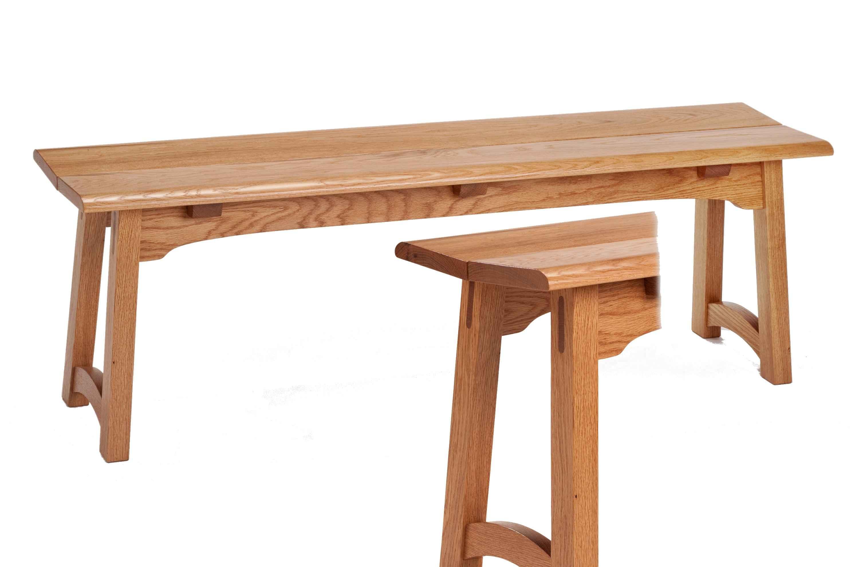 White Oak Bench by  Rex White - Masterpiece Online