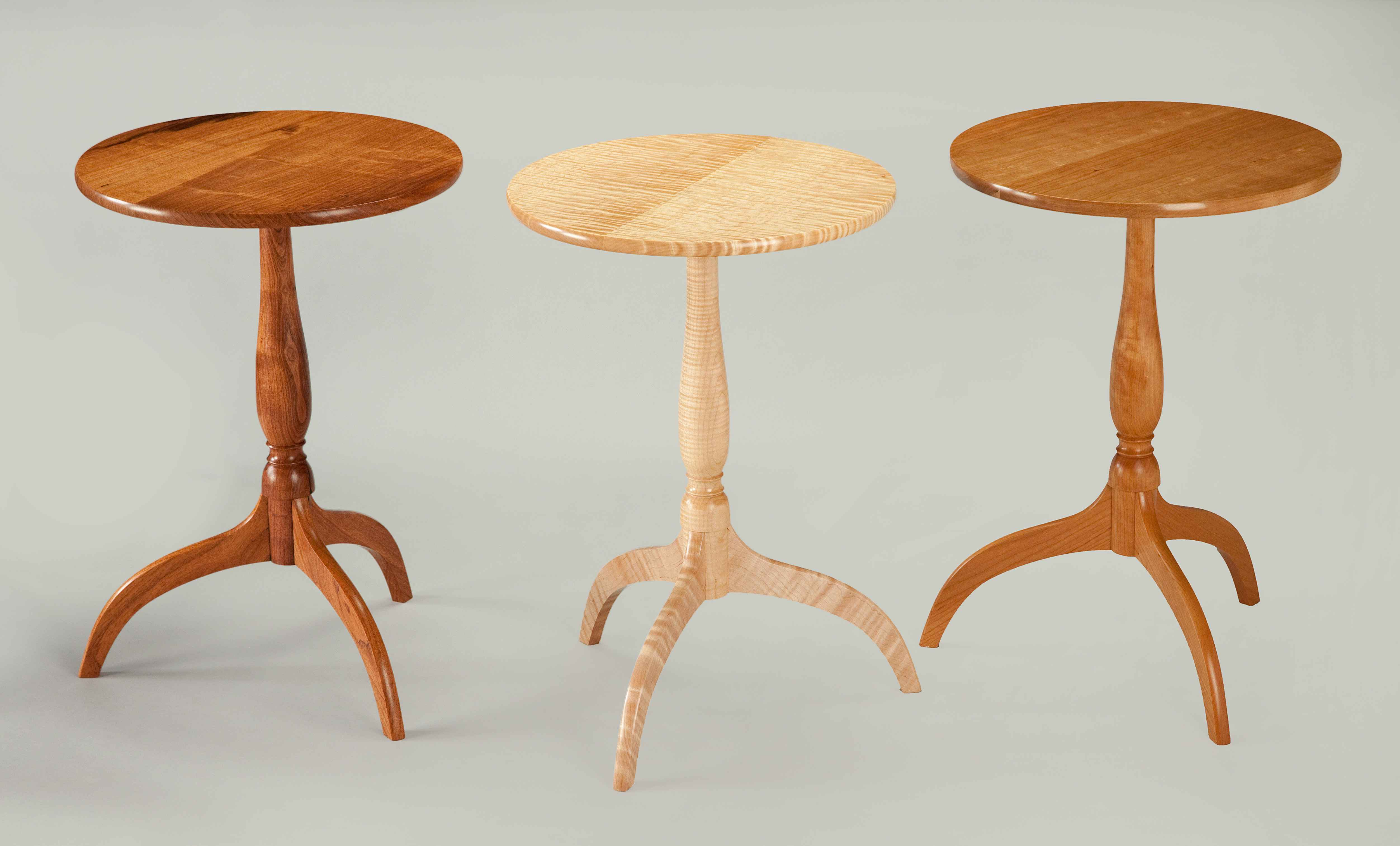 Shaker Candle Tables ... by  Rex White - Masterpiece Online