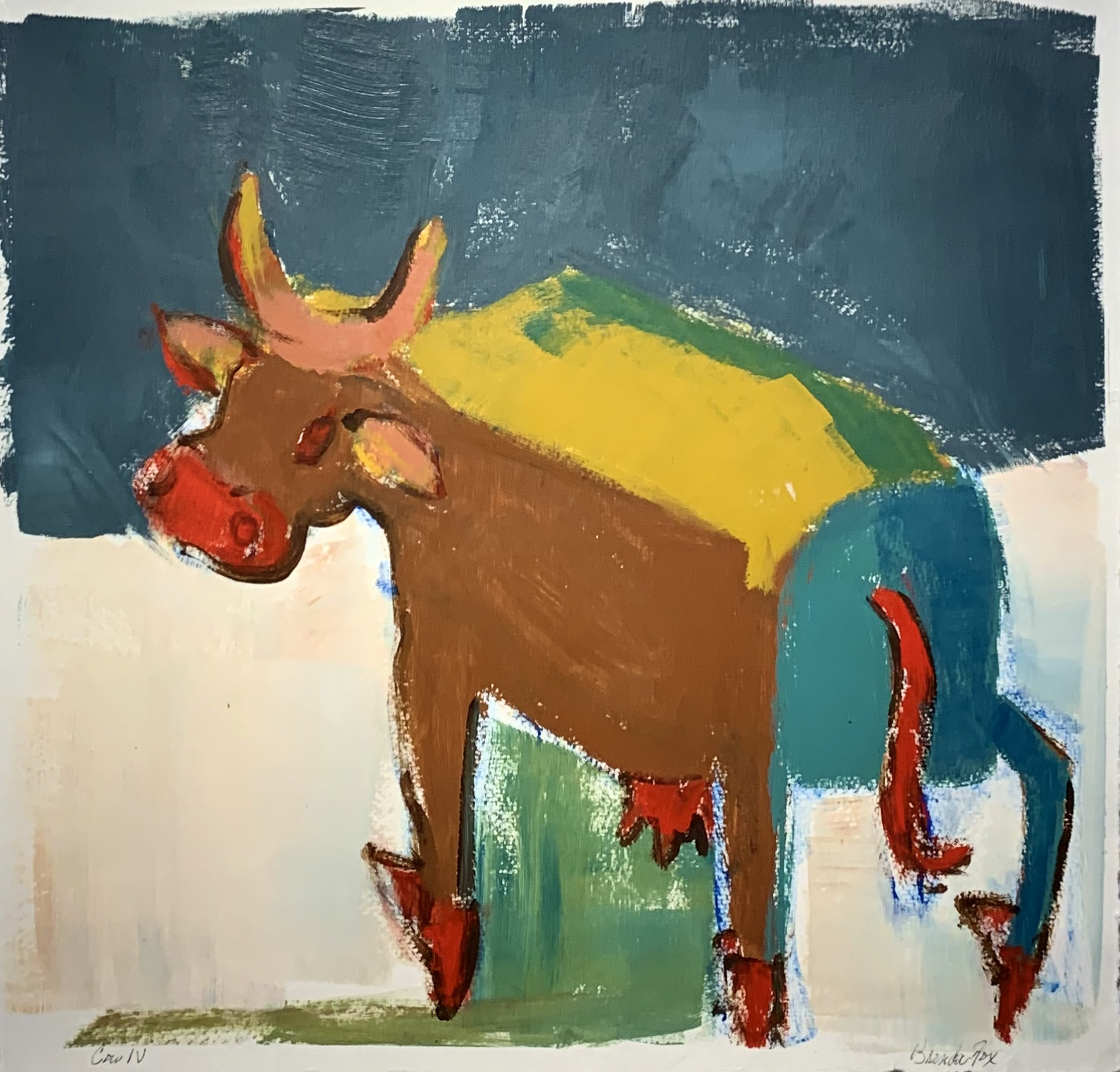 Cow IV by  Brenda Fox - Masterpiece Online