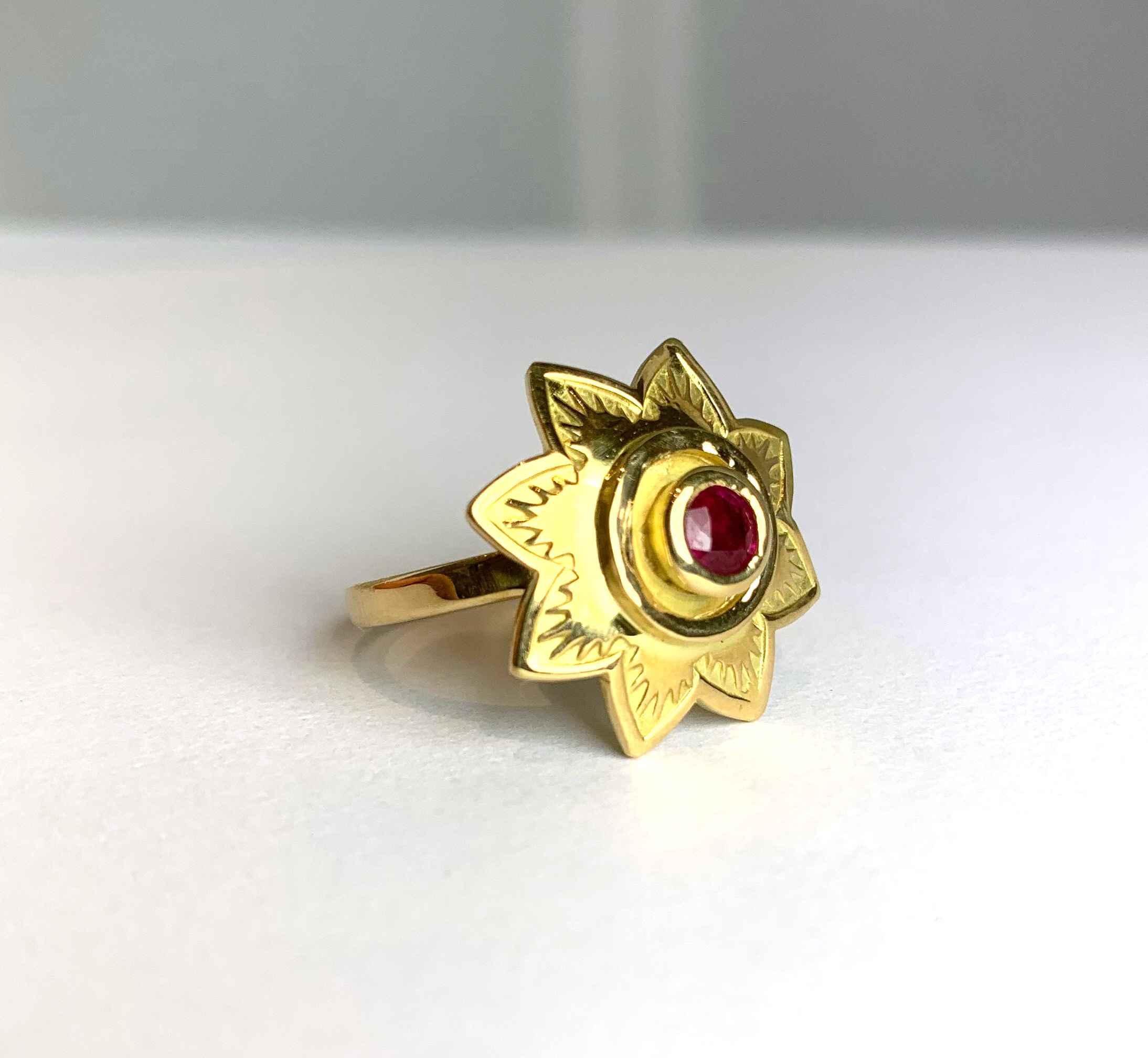 Ruby Starburst Ring by  Victoria Adams - Masterpiece Online