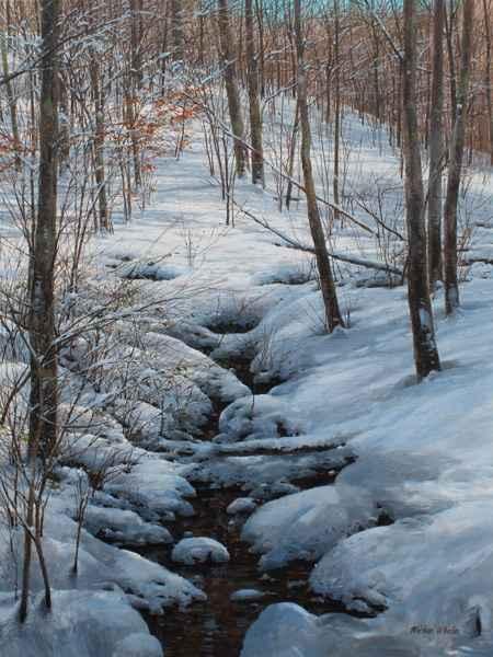 Heavy Snow in the Rav... by  Michael Wheeler - Masterpiece Online