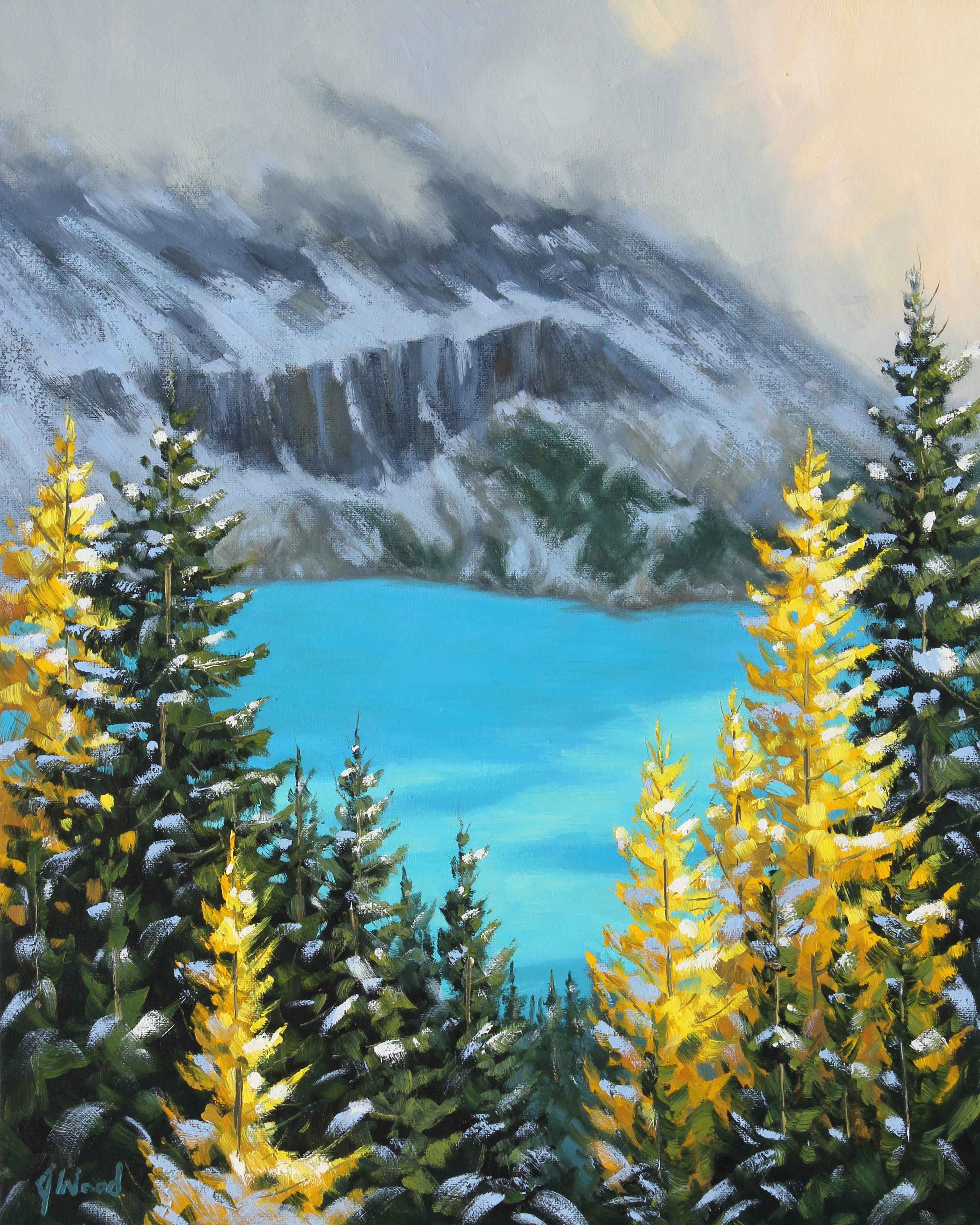 Turquoise View  by  James Wood