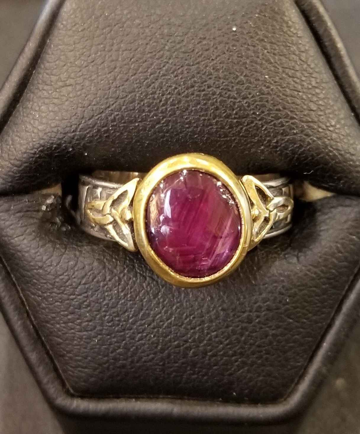 Ruby Celtic Star Ring by  Heyoka Merrifield - Masterpiece Online