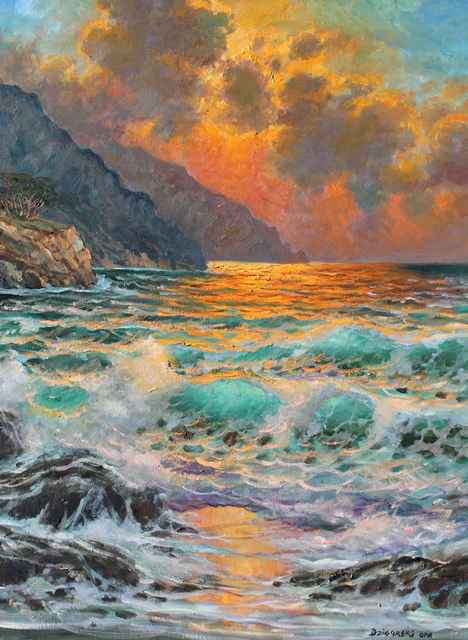Sunset Along Big Sur by  A Dzigurski II - Masterpiece Online