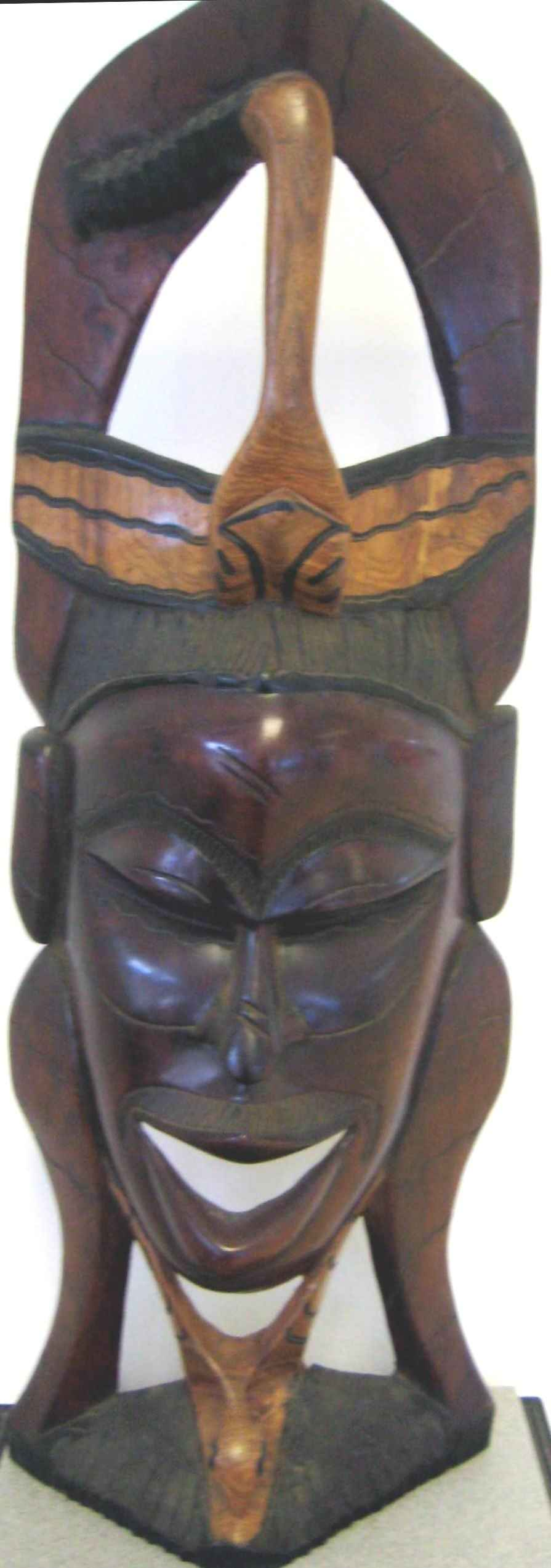 Wooden Large  African... by  By George Tuaton African Masks - Masterpiece Online