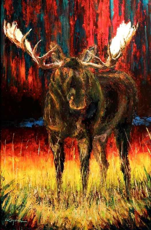 Black Moose  by  Harry Koyama