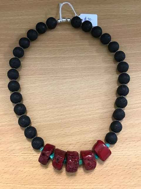 Volcanic Rock Coral a... by Mrs Larissa Hale - Masterpiece Online
