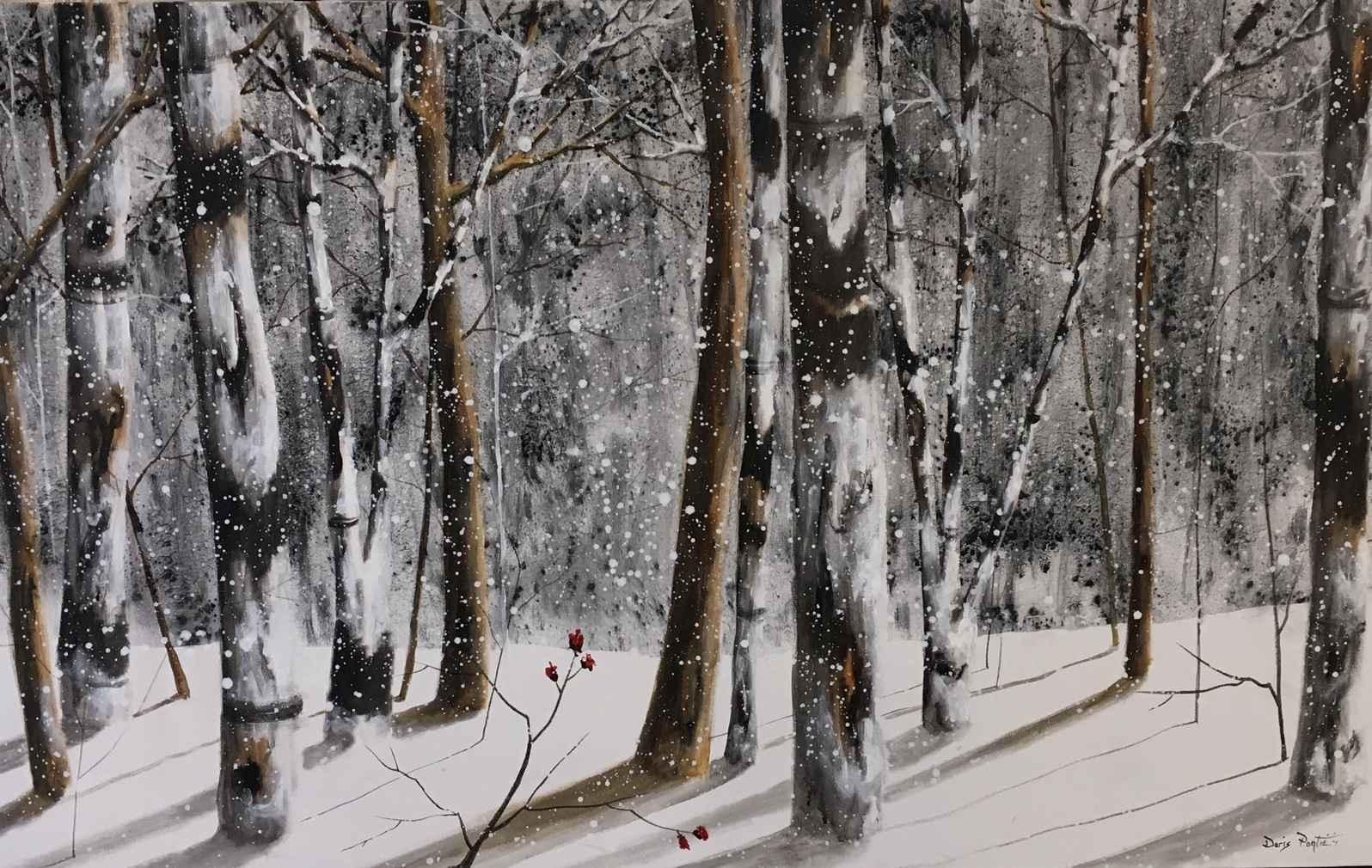 Winter Birch Trees by  Doris Pontieri - Masterpiece Online