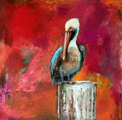 Pelican in Pink by  Naydene Gonnella - Masterpiece Online